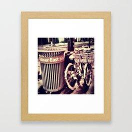 LES Dusted Framed Art Print
