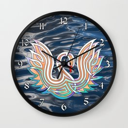 Celtic Knot Swan Wall Clock