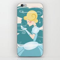 cinderella iPhone & iPod Skins featuring Cinderella by LindseyCowley
