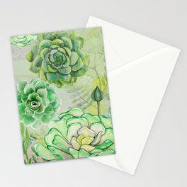 Hens and Chicks Garden Stationery Cards