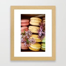 Pretty Macaroons Framed Art Print