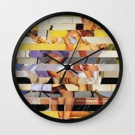 Glitch Pin-Up Redux: Isabella Wall Clock