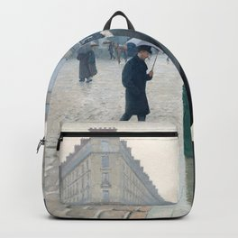 Paris Street Rainy Day (1877) by Gustave Caillebotte. Backpack
