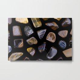 Tiger's Eye Gemstones Metal Print