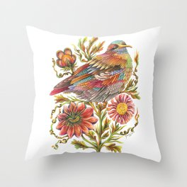 Feather Song Throw Pillow