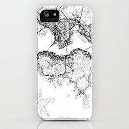 Hong Kong Map White iPhone Case