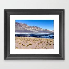 Altiplano Salt Lake Framed Art Print
