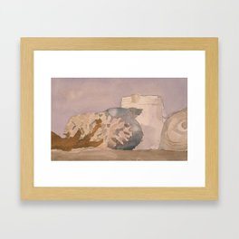 Watercolor Still Life in Purple and Yellow Framed Art Print