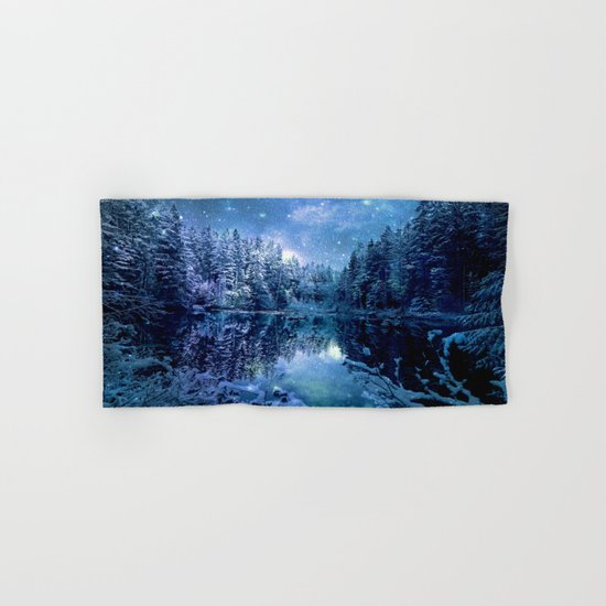 Magical Wintry Forest Hand & Bath Towel