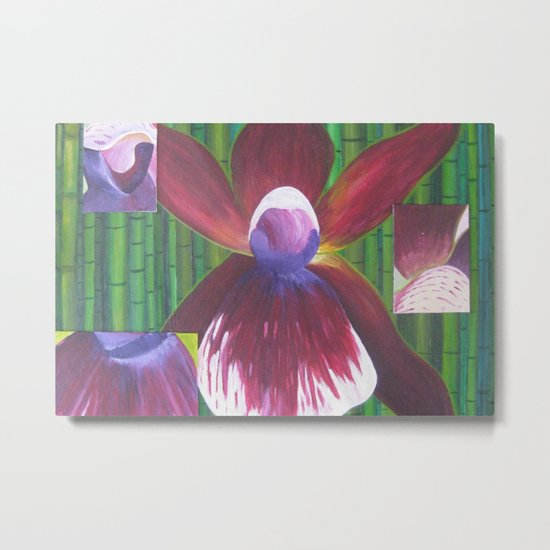The Many Faces of Orchids Metal Print