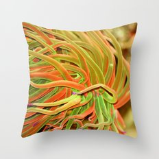 Rainbow hair Throw Pillow