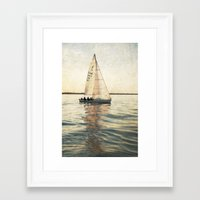 sailing Framed Art Prints featuring Sailing by Mary Kilbreath