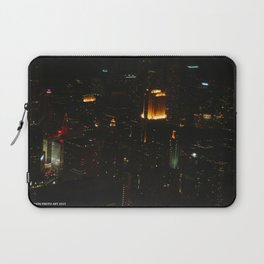 Chicago Skyline Light Show (Chicago Architecture Collection) Laptop Sleeve