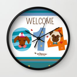 Welcome 014 Wall Clock