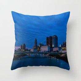 Columbus at Dusk Throw Pillow