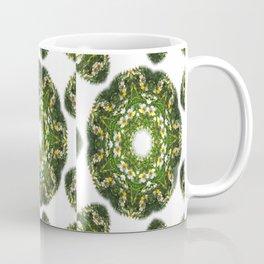 Little White Wildflower Kaleidoscope Art 1 Coffee Mug