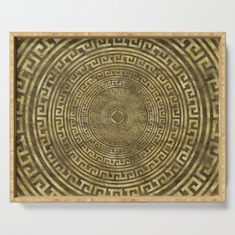 Circular Greek Meander Pattern - Greek Key Ornament Serving Tray
