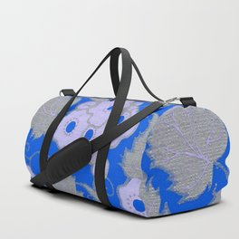 Royal Blue Blossoms Duffle Bag