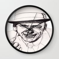 frank Wall Clocks featuring Frank by Paul Nelson-Esch Art