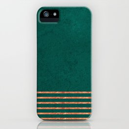 EMERALD COPPER GOLD BRASS STRIPES iPhone Case
