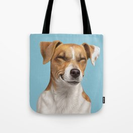 Smiling Dog (Jack Russell) Tote Bag