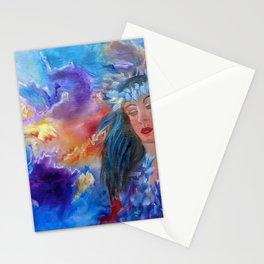 Abstract Hula Stationery Cards