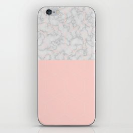 Marble With Poygone iPhone Skin