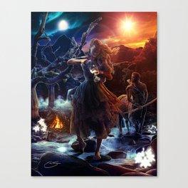 XIV. Temperance Tarot Card Illustration (Color) Canvas Print