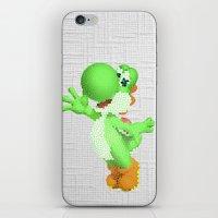 yoshi iPhone & iPod Skins featuring Yoshi by Jessica Wray