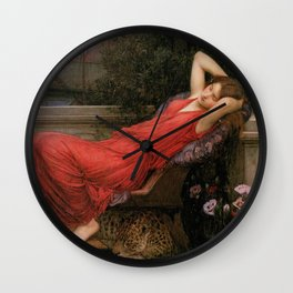 Ariadne, John William Waterhouse Wall Clock