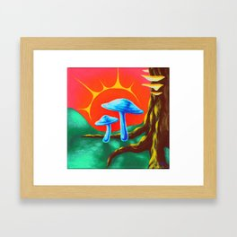 Fairy Toadstools Framed Art Print