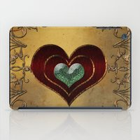 hearts iPad Cases featuring Hearts by nicky2342