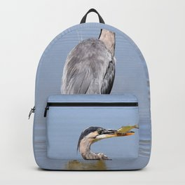 Great Blue Heron Fishing - I Backpack