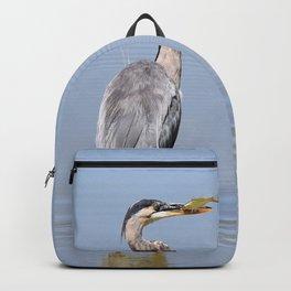 Great Blue Heron Fishing - I Backpack