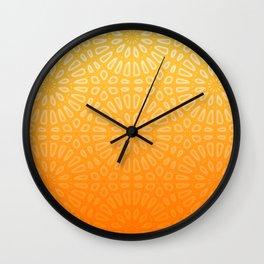 Orange & Yellow Islamic Geometrical Pattern Wall Clock