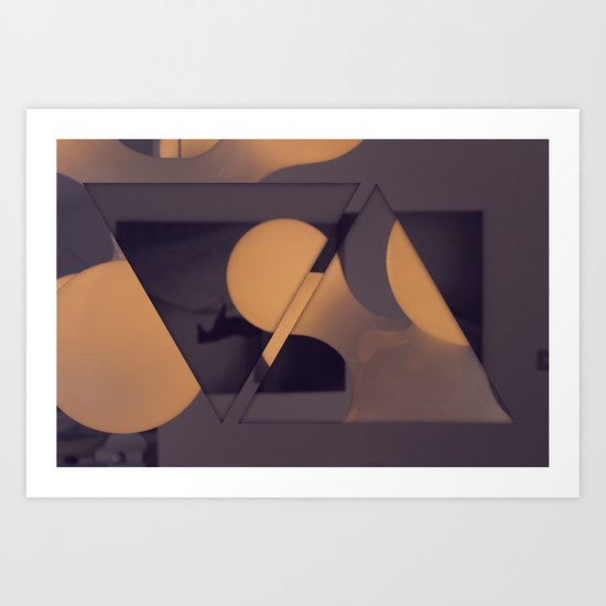 triangles / photography Art Print
