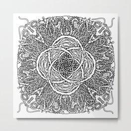Mandala Microcosmos Metal Print