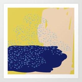 Mustard Sea Art Print
