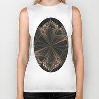 ornate Biker Tanks featuring Ornate Blossom by Charma Rose