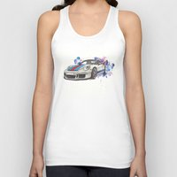 martini Tank Tops featuring GT3 martini by Claeys Jelle Automotive Artwork