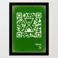 QR time Art Print