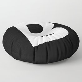 Letter B (White & Black) Floor Pillow
