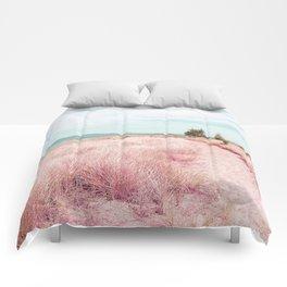Coastal trail - blush Comforters