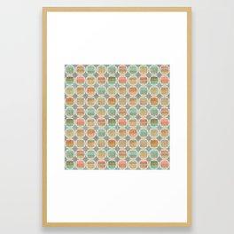 Danish Modern Sandstone Framed Art Print