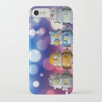 robots iPhone & iPod Cases featuring Robots by Pedro Nogueira
