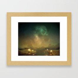 Ghost Lights Framed Art Print