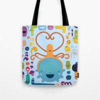 best friends Tote Bags featuring Best Friends by Piktorama