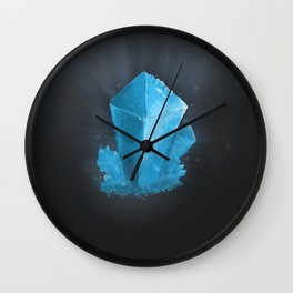 Crystal blue Wall Clock
