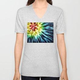 Abstract Dark Tie Dye Unisex V-Neck