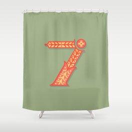 Alphabet Drop Caps Series- 7 Shower Curtain